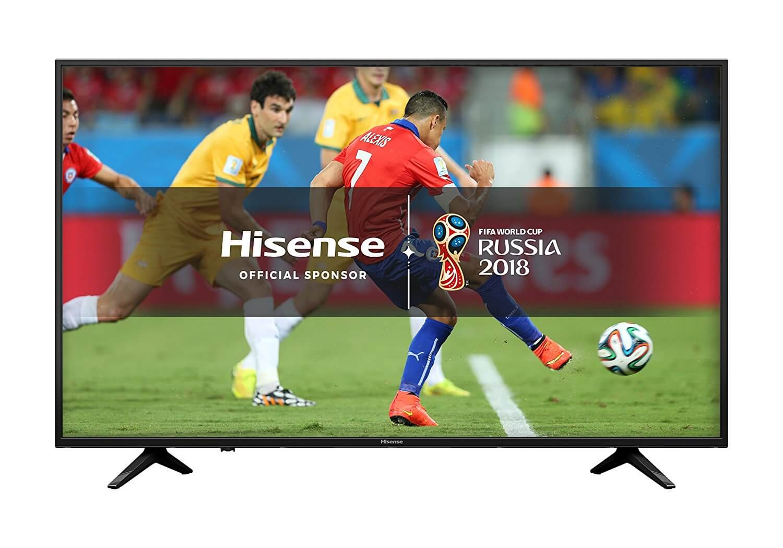 Hisense A6200 H43A6200UK 43-Inch 4K Ultra HD Smart TV Freeview Play 2018 Model Best 4K Ultra HD Smart LED TV 2018 Under £400