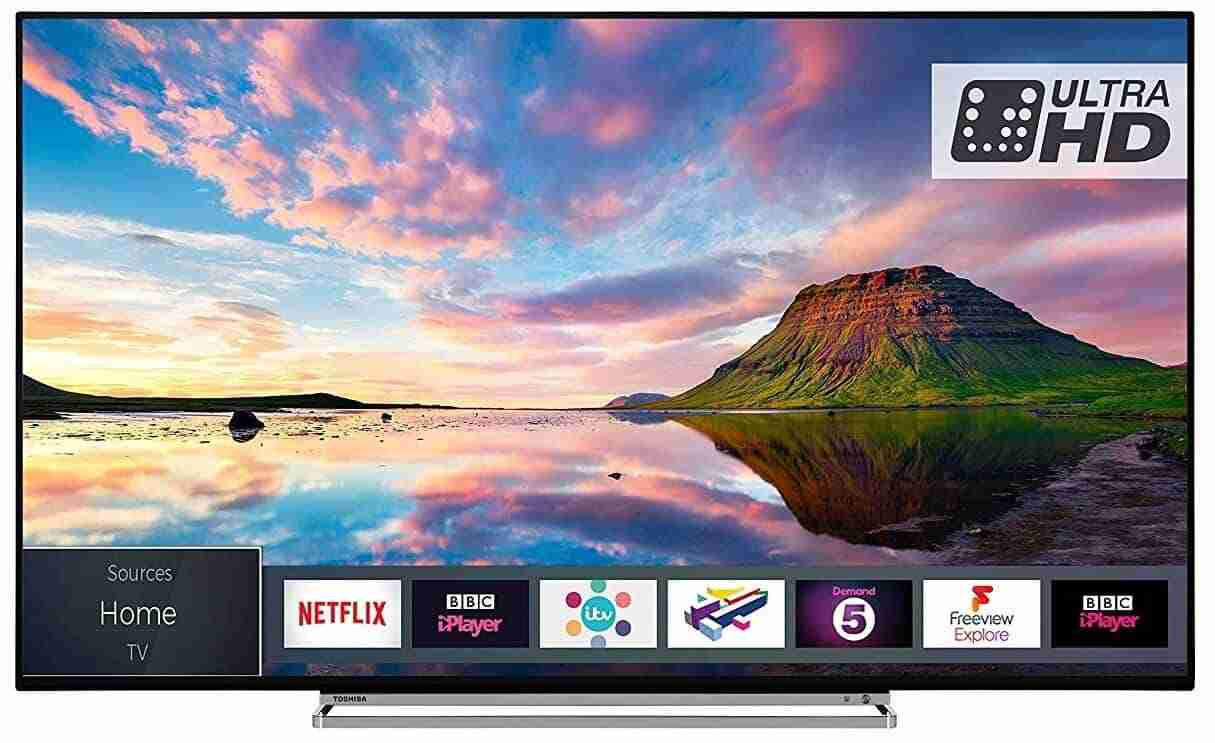 Toshiba 55U5863DB 55-Inch Smart 4K Ultra-HD HDR LED TV with Freeview Play