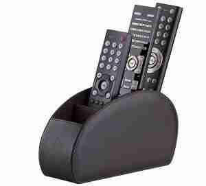 remote control holder | Remote Control Holder Brown Storage Caddy