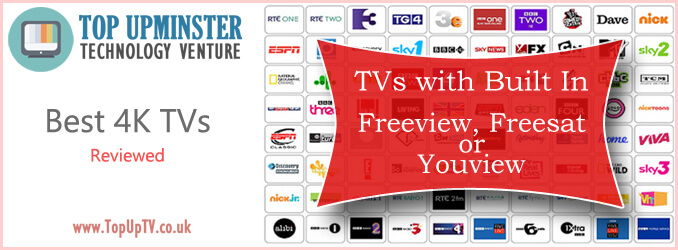 tvs with built in freeview freesat or youview